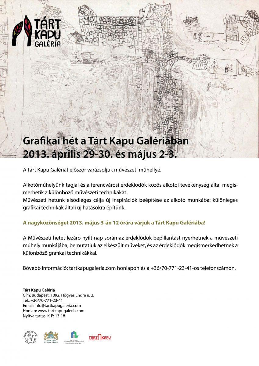 Grafikai hét a Tárt Kapu Galériában
