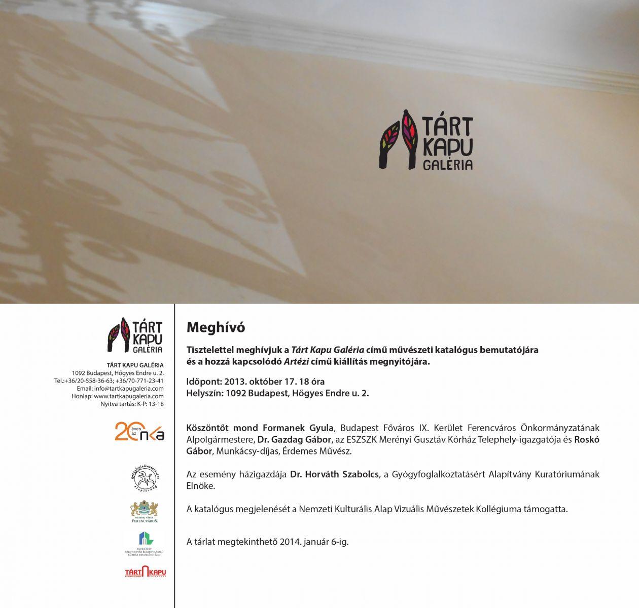 Meghívó-Tárt Kapu Galéria-Könyvbemutató és Artézi c_ kiállítás(1)